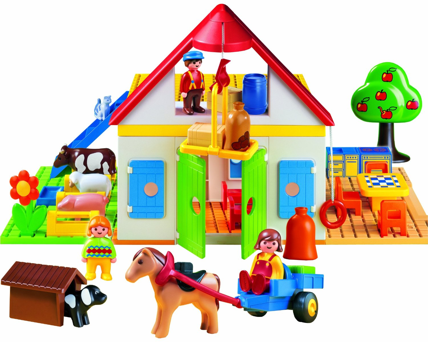 Playmobil farm set for toddlers
