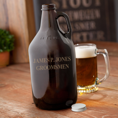 Personalized Amber Growler.