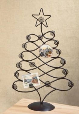 Tablet top christmas card holder