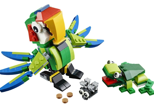 Rainforest animals by Lego