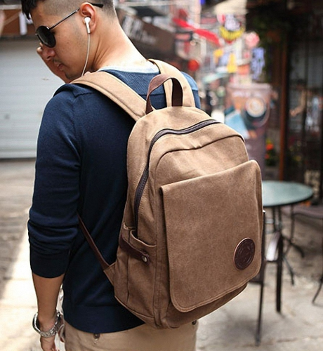 Vintage Canvas Backpack, suitable for Laptop
